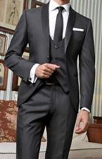 Abito uomo da sposo cerimonia tasmania 2 colori blu nero su misura sposo