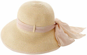 Image Is Loading Las Women Summer Straw Hats Flower Ribbon Gardening