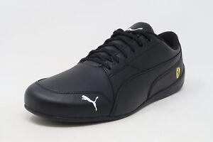 PUMA-SF-Ferrari-Drift-Cat-7-Black-Leather-Lace-Up-Sneakers-Adult-Men-Shoes