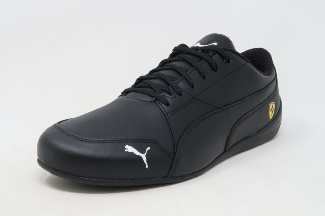 3dbb5f4b58 PUMA SF Ferrari Drift Cat 7 Black Leather Lace Up Sneakers Adult Men Shoes