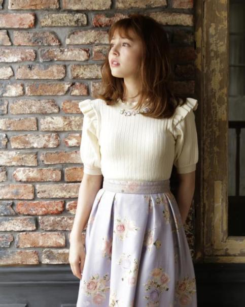 LIZ LISA - Bijou Knit Top  ( jfashion kawaii japan Rosa gyaru )