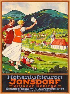 Jonsdorf Zittauer Gebirge Germany Vintage Travel Advertisement Art Poster Print