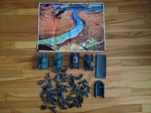 Plastic militär- Figures and tankar
