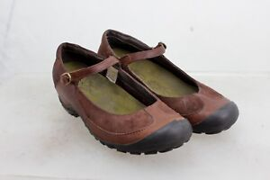 MERRELL-Plaza-MJ-BUCKLE-STRAP-MARY-JANE-SHOES-WOMEN-039-S-SIZE-9-SUEDE-amp-LEATHER