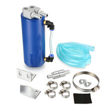 Torques 2 Ltr Capacity 15mm Barbed Oil Breather Catch Tank Can Brushed Aluminium