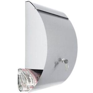 Moderne-Wand-Briefkasten-avec-Journal-Specialiste-en-Inox-31x42x12cm-Postkasten