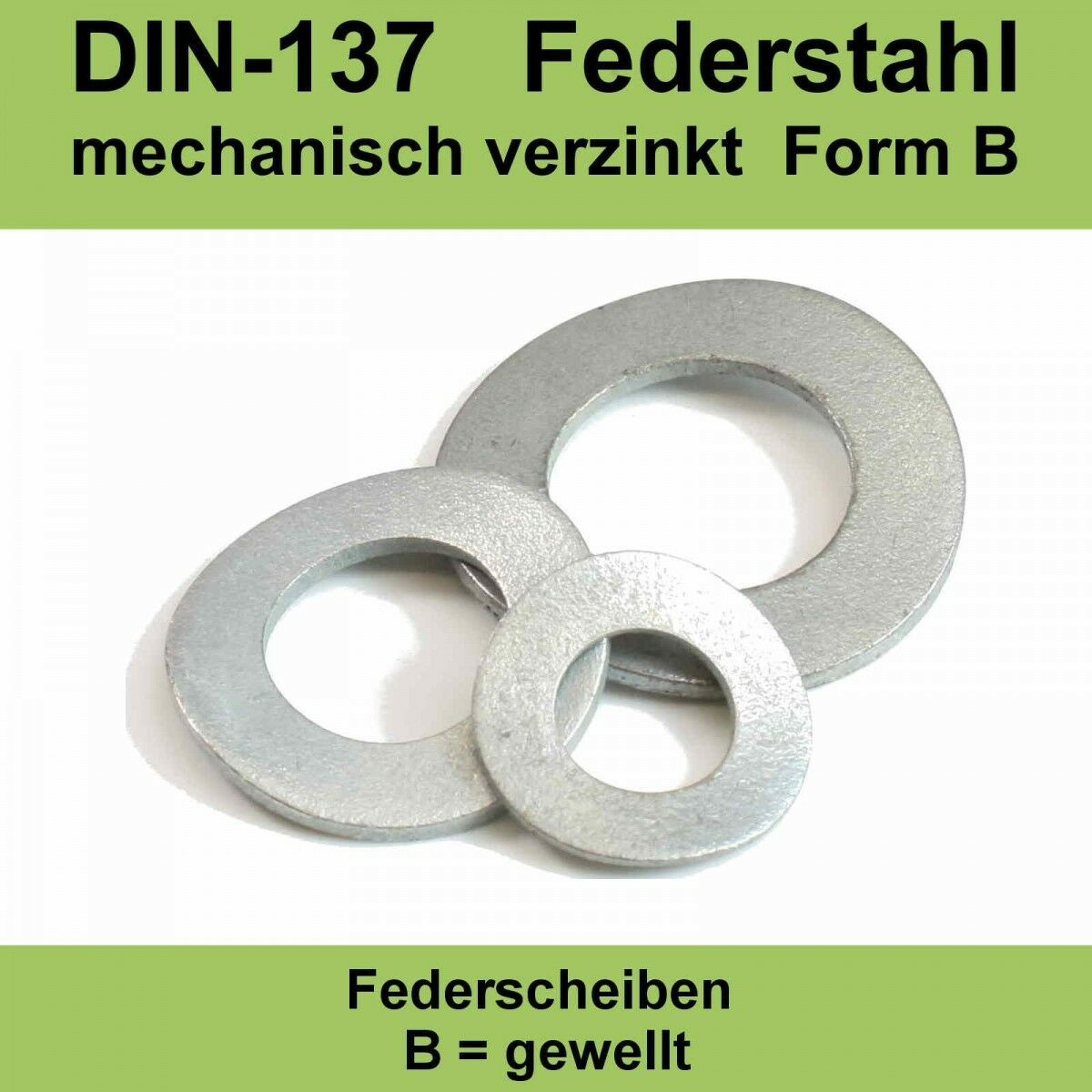Federscheiben M16 Form B gewellt DIN 137 Edelstahl A2 Unterlegscheiben Beilagscheiben Wellscheiben 50 St/ück