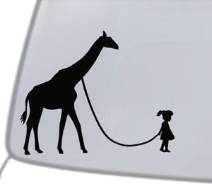 GIRL WALKING A ZOMBIE Vinyl Decal Sticker Car Window Wall Bumper Funny Dead Jdm