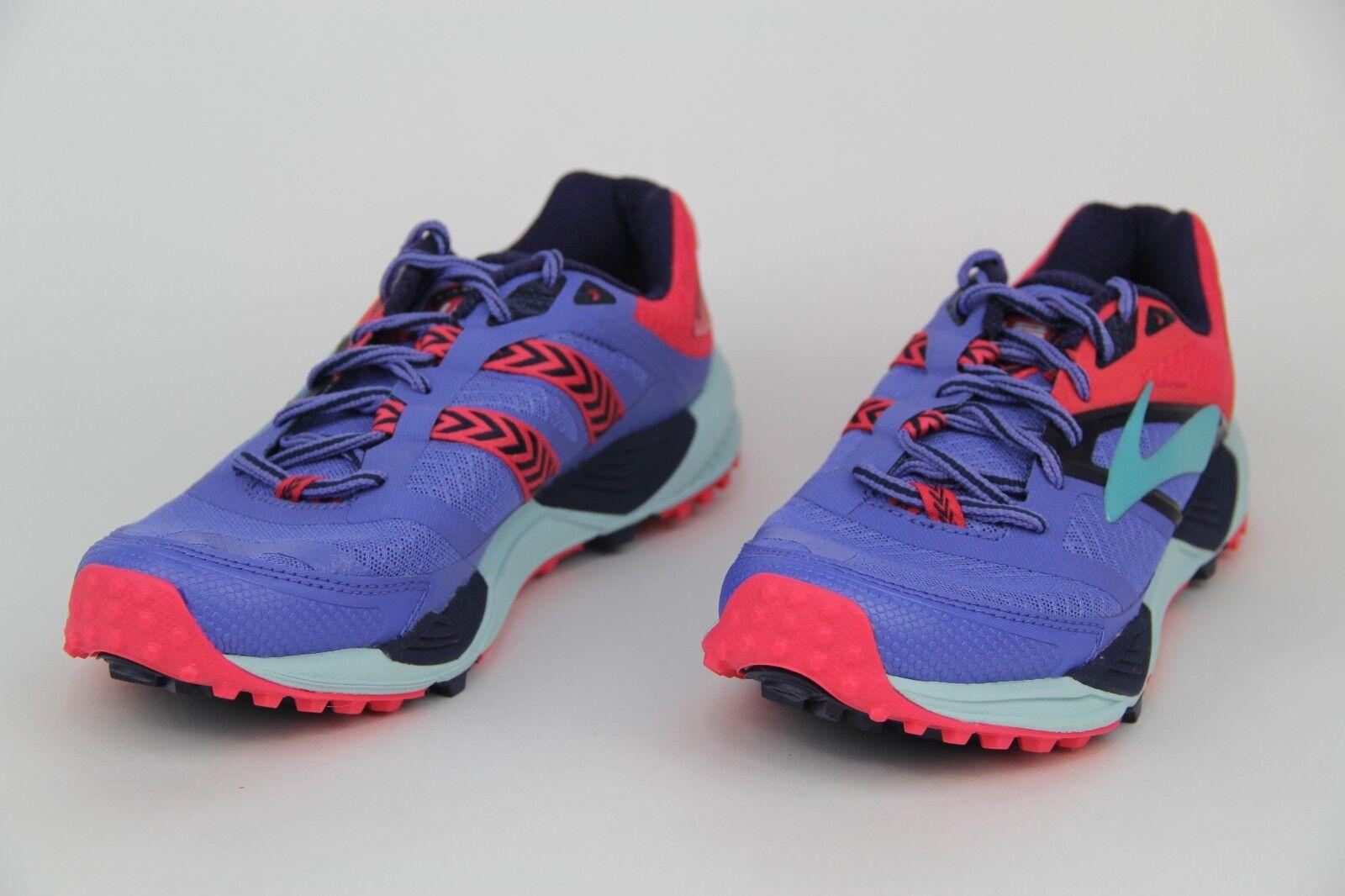 Brooks Cascadia 12 Running schuhe Athletic Turnschuhe lila rot Blau Wmns Größe 8