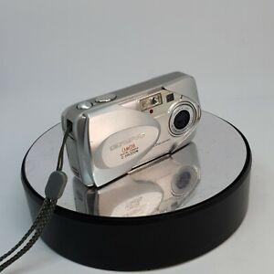 100% Vrai Olympus Camedia 350 Zoom 3.2mp Digital Camera Silver Vintage Testé #129-afficher Le Titre D'origine Excellente Qualité