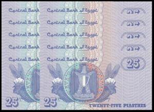 Egypt-25-Piast-10pcs-Running-Number-UNC-25