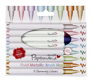 Marker-Stiftset-mit-8-Metallic-Marker-Brush-Marker-Fluid-Metallic-Papermania