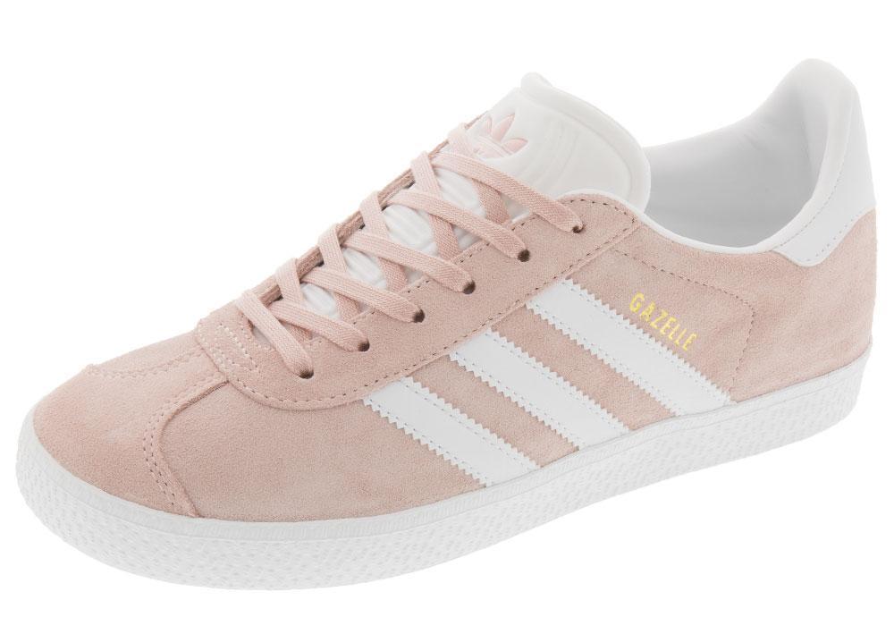 Adidas pour Femmes Gazelle Chaussures Taille 5 Originaux Glace Rose Daim Basse