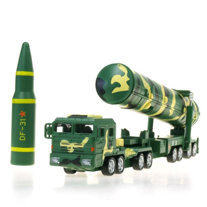 KDW 1 64 Scale Diecast DF-31A Ballistic Missile Launchers Models Sound&Light