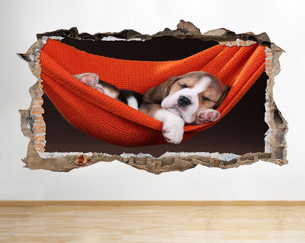 S518 dormir del perrito Cute Animals r pegatina pared vinilo 3d habitación niños