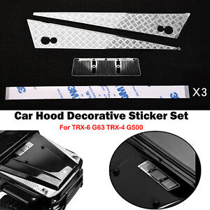 Durable-Stainless-Steel-Car-Hood-Decorative-Sticker-Set-For-TRX-6-G63-TRX-4-G500