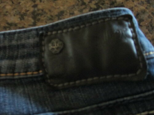 Womens L bleu 33 Bootcut Aiko W coutures en 28 Jeans Silver denim EXHqBwn