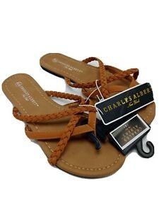Charles-Albert-Women-039-s-Strappy-Braided-Criss-Cross-Thong-Toe-Flip-Flop-Sandal