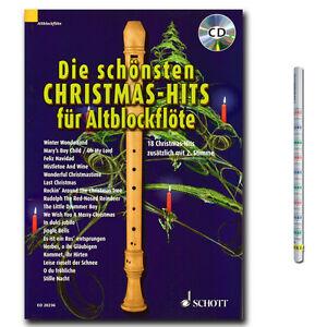 Noten Weihnachtslieder für Sopranblockflöte SCHOTT ED8450 top Zustand