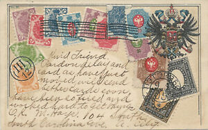Russia-Stamps-on-Embossed-Postcard-Used-in-1907-Published-by-Ottmar-Zieher