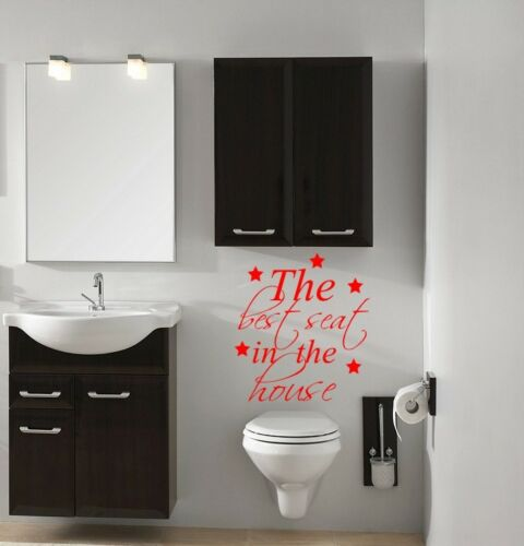 THE BEST...COOL BATHROOM TOILET WALL QUOTE VINYL STICKER STENCIL MURAL GRAPHIC