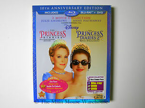 Disney-The-Princess-Diaries-1-amp-2-Teen-Comedy-Double-Feature-Blu-Blu-ray-and-DVD