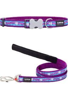 Red-Dingo-UNICORN-Collar-Lead-PURPLE-BLUE-Dog-Puppy-Sizes-XS-LG