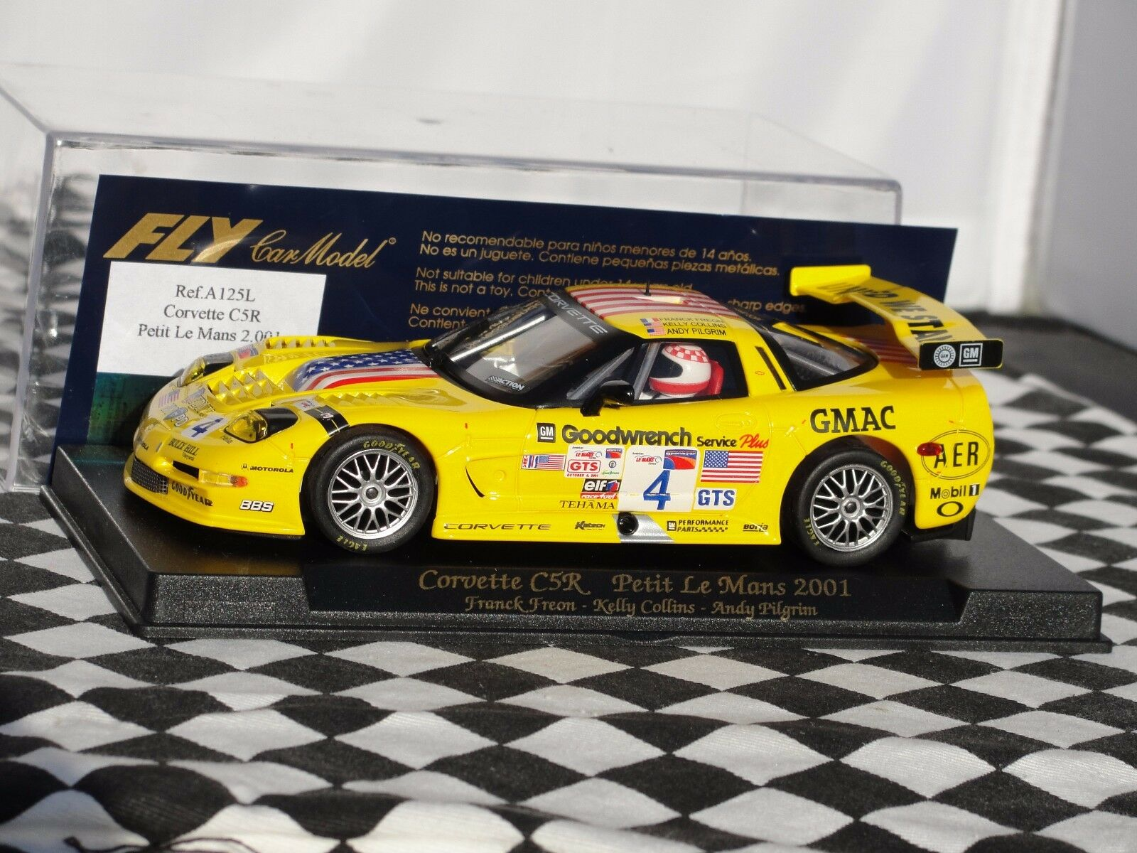 FLY CORVETTE C5R PETIT LE MANS 2001 YELLOW SLOT BNIB