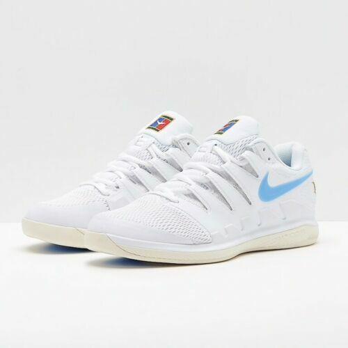 Nike Vapor X Interior Zapatos tenis de alfombra-Reino Unido  9 en blancoo y azul claro  despacho de tienda