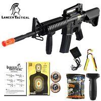 Lancer Tactical Airsoft M4 M16 RIS Electric Metal Gearbox AEG Rifle Gun LT-04B