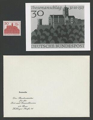 Brd Foto-essay 544 Eisenach Wartburg 1967 Martin Luther Photo-essay Rare! FöRderung Der Produktion Von KöRperflüSsigkeit Und Speichel Brd Ab 1948
