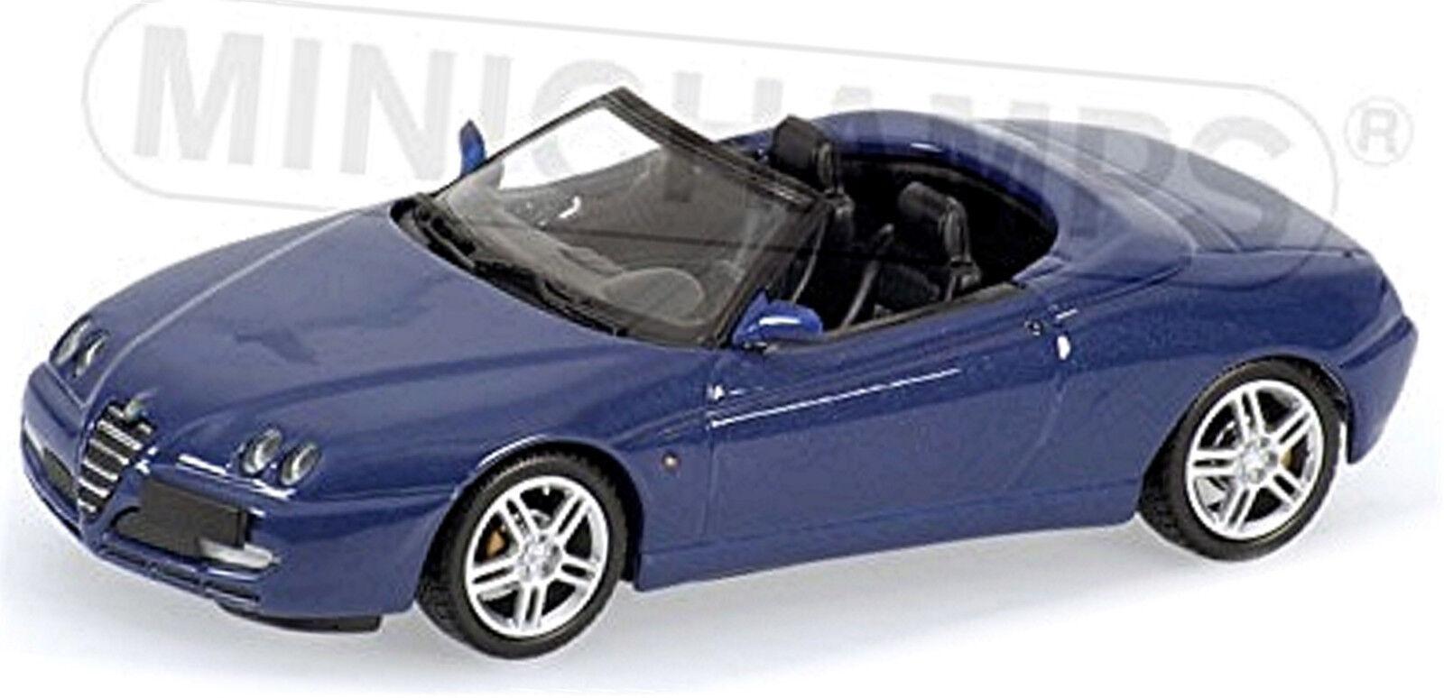 calidad fantástica Alfa Romeo Spider Spider Spider 916 Facelift 2003-05 Azul Azul Metalizado 1 43 Minichamps  Para tu estilo de juego a los precios más baratos.