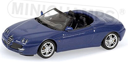 Alfa Romeo Spider 916 Facelift 2003-05 blau blue metallic 1:43 Minichamps