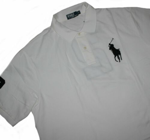 Polo Ralph Lauren b/&t Solid Weathered Mesh White//Black Polo 2 /& 3xb Big