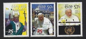 IRELAND-2003-POPE-JOHN-PAUL-25-YEARS-SET-OF-3-UNMOUNTED-MINT-MNH