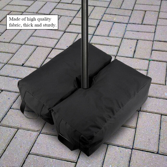 Outdoor Patio Umbrella Base Stand Movable Sand Weight Bags For Offset Cantilever