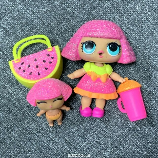 2x LOL Surprise Dolls Series 2 Lil Little Sisters DJ D.J /& Crystal queen