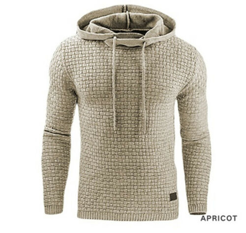 New Men/'s Winter Slim Warm Hooded Sweatshirts Hoodies Coat Jacket Jumper Outwear