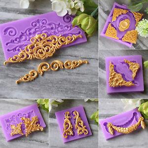 3D Rose Flower Silicone Fondant Mold Cake Border Decoration Paste Sugar Mould
