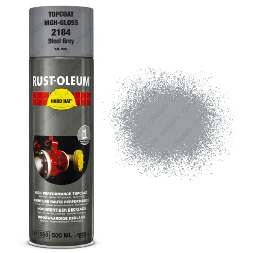 x10 Industrial RustOleum Steel Grey Aerosol Spray Paint Hard Hat 500ml RAL 7001