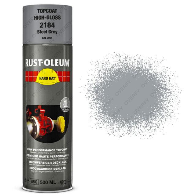 X17 Muy Alta Cobertura Óxido-óleo Gris Acero Spray Pintura Duro Gorra Ral 7001