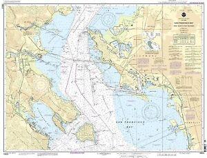Image Is Loading Noaa Chart San Francisco Bay Angel Island To