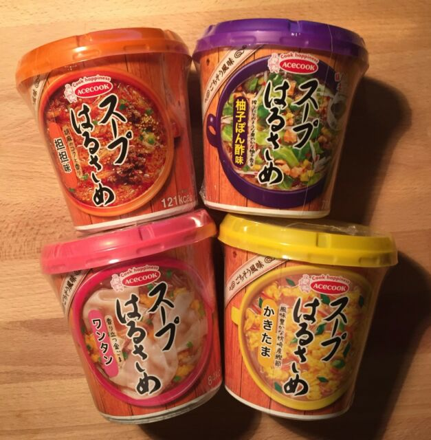 Acecook, Instant Harusame Soup, 4 kinds, Low Carorie