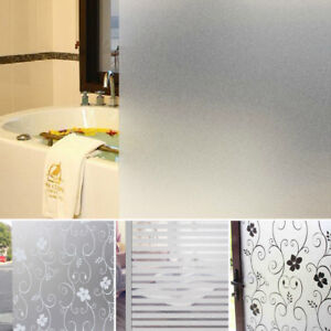 bedroom bathroom home glass window door privacy film sticker pvc rh ebay co uk bathroom window privacy film reviews bathroom shower door privacy film