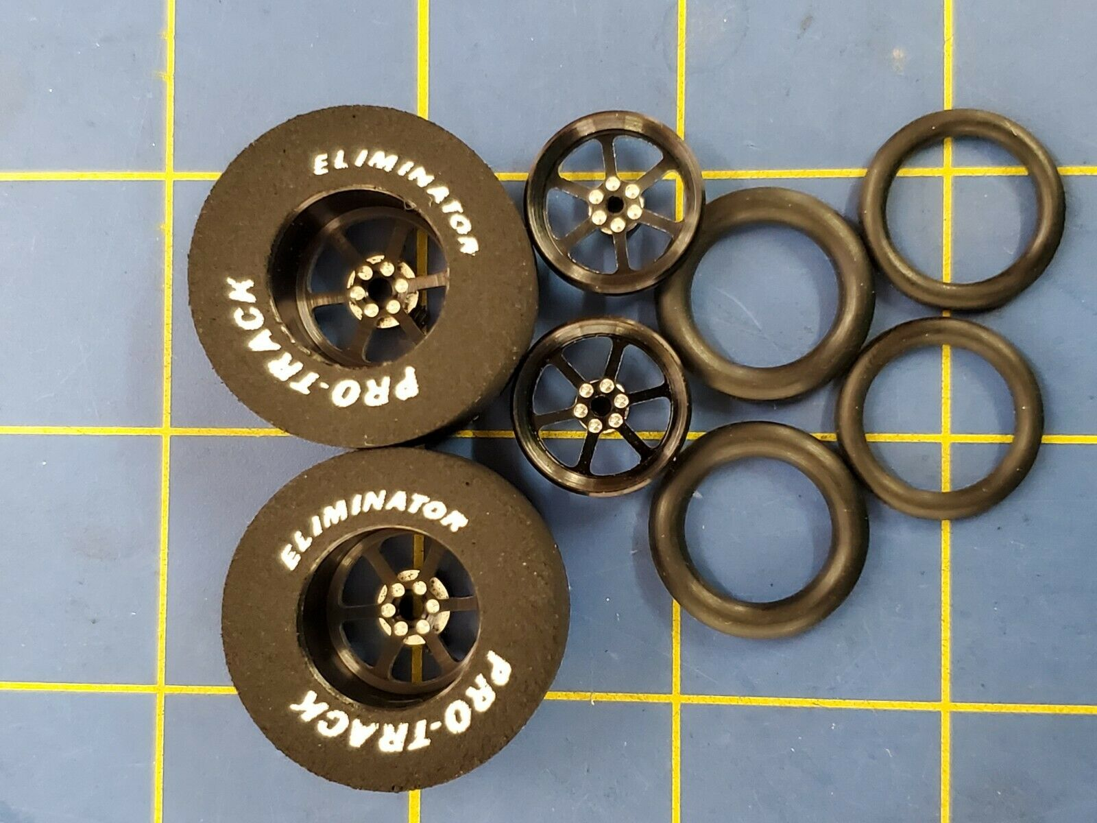 Pro Track N408E Black Turbine 1 3//16 x 500 Rear Drag Tires Mid America