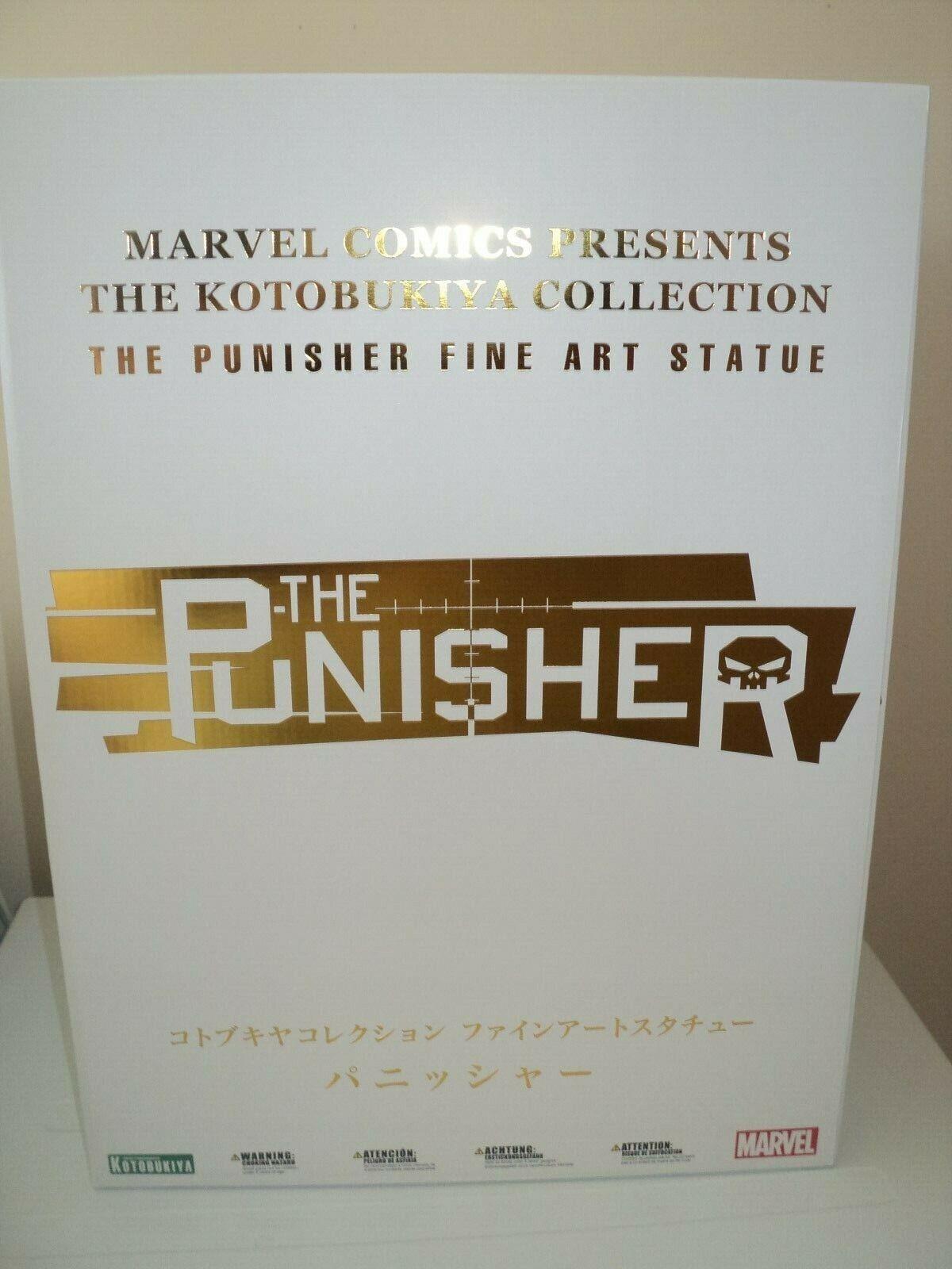 MARVEL UNIVERSE THE PUNISHER FINE ART STATUE KOTOBUKIYA LIMITED EDITION 900 NEW
