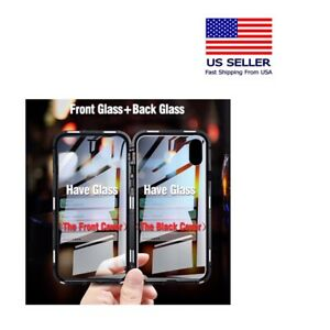 For-iPhone-XR-Magnetic-Adsorption-Double-Side-Glass-Case-Cover