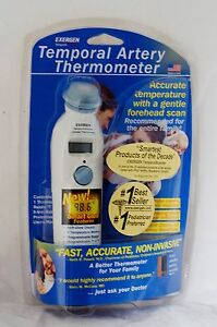New Smart Glow Exergen Temporal Artery Thermometer Forehead