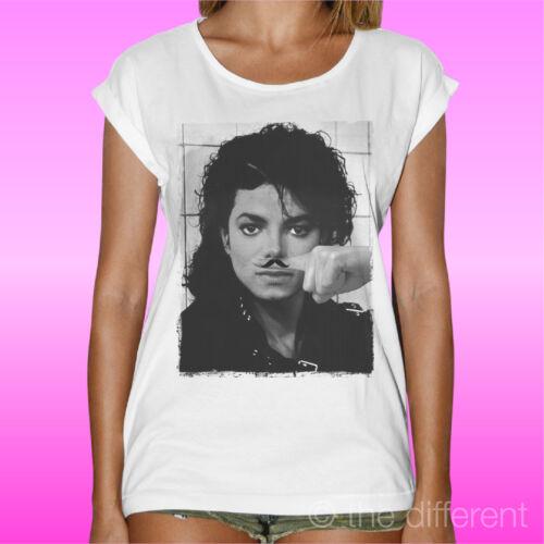 """T-Shirt /"""" Michael Jackson Funny Finger Mustache Schnurrbart /"""" Geschenkidee"""