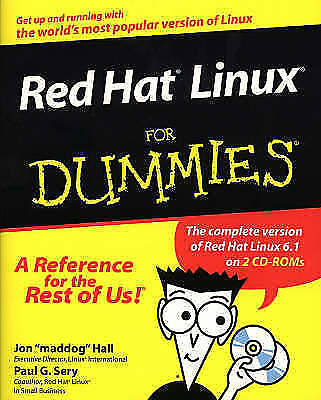 Sery, Paul G., Hall, Jon 'maddog', Red Hat Linux For Dummies, Very Good Book